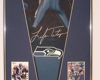 Seattle Seahawks Lofa Tatupu Pennant & Cards...Custom Framed!