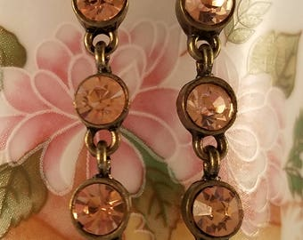 Peach color dangle earrings