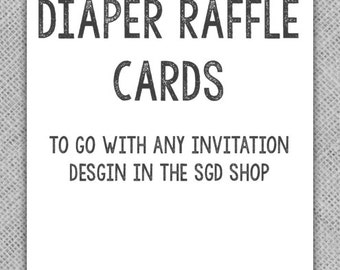 Matching Diaper Raffle Card for Any Design in the Sassy Graphic Design Store