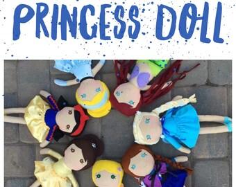 Princess Rag Doll, Princess Doll, Girl Rag Doll, Rag Doll, Softie Rag Doll, Heirloom Rag Doll, Handmade Doll, Fabric Doll, Cloth Doll