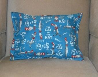 Travel Pillow Case / Child Pillow Case DR SEUSS / Cat in the Hat / Dr Seuss Characters