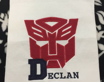 Transformer Birthday Shirt with Custom Name or Number