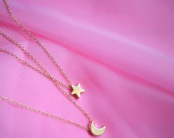 Dainty Gold Charm Necklace
