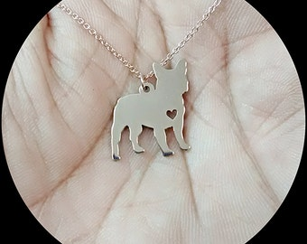 French Bulldog Necklace - Engraving Pendant - Sterling Silver Jewelry - Gold Jewelry - Rose Gold Jewelry - Personalized Pet Dog Jewelry Gift