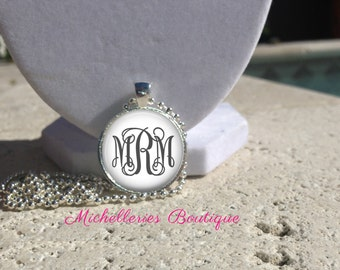 Monogram Pendant, Personalized Pendant, Monogram Jewelry, Monogram Accessories, Bridesmaid Gift, Gifts under 10, Gifts for Her, MB314