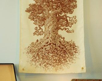 Tree Tapestry - Tree Art Wall Decor - Tree of Life - Science Teacher Gift - Biology Poster