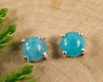 Paraiba Tourmaline Earrings in 14kt Gold or Sterling Silver