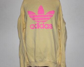 Vintage 1990's Adidas Bootleg Crewneck Sweatshirt L