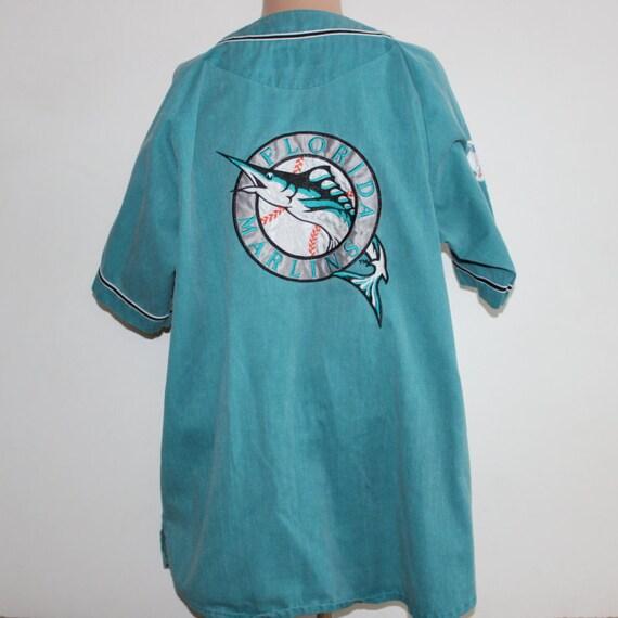 d92e9e29e66 Vintage Florida Marlins STARTER MLB Jersey by SouthsideThrowbacks delicate