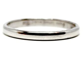 Platinum Wedding Band Tiffany size 5.25