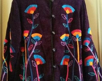 Alex Ken 1990's Chenille Jacket Size 2X