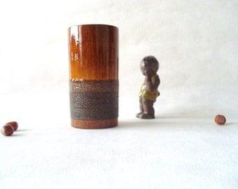 Vintage ceramic cylinder vase by Strehla, 1960's East German,  Mi Century Modern interior decor
