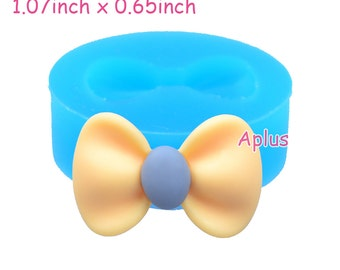 FYL397 27.4mm Kawaii Ribbon Silicone Mold - Bow Mold Sugarcraft, Fondant, Jewelry, Cookie Biscuit, DIY Handmade, Resin Clay Mold