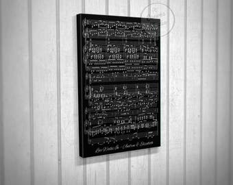 Music sheet canvas, wedding song sheet canvas, song art canvas, wall art music sheet, canvas print music sheet, music sheet print, sheet art