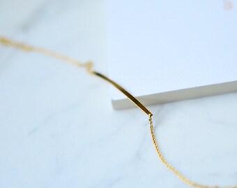 Gold Bar Bracele,  Simple Bar Bracelet