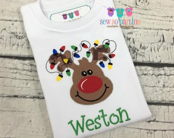 Baby Boy Christmas Outfit - Reindeer Baby Christmas Outfit - Toddler Christmas Shirt -  Boy Reindeer Shirt - Baby Boy Christmas outfit
