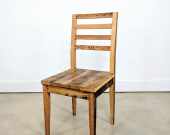 Farmhouse Dining Chairs, Reclaimed Wood Dining Chairs