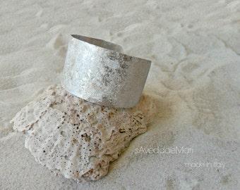 aluminum bracelet, Italian jewelry, made in Italy, Sardinia, silver jewelery