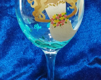 Bride wine glasses, Bride, Bridal shower, Mermaid, Wine glasses, Painted wine glasses, Wedding wine glasses, Mermaid bride wine glass,20 oz