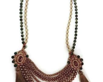 Multistrand Emerald Empress Necklace