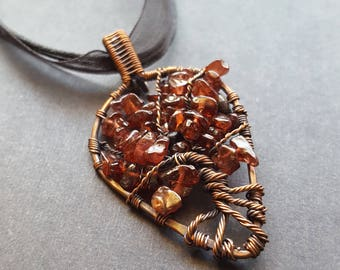 Mothers day gift, Tree-of-Life Necklace, Tree-of-Life Pendant, Mothers day Jewelry, Copper Tree-of-Life, Birthstone Necklace for Mom