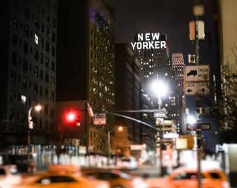 "New York Art, New Yorker, New York Photography, New York City Night, NYC Print, New York Skyline, New York Cab, Abstract NYC ""NYC"""