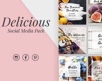 Social Media Graphics Pack Instagram Pinterest Facebook - Delicious