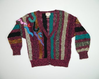 Vintage Abstract Cardigan...