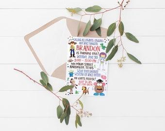 Printable Toy Story Birthday Invitation (Kids Birthday Invitation)