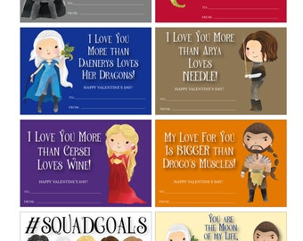 Game Of Thrones Valentines   Game Of Thrones Valentine Cards   Cute Game Of Thrones  Valentines