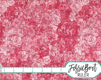 PINK Fabric by the Yard, Fat Quarter SILVER METALLIC Fabric Packed Rose Fabric Floral Apparel Fabric 100% Cotton Fabric Quilting Fabric t1-3