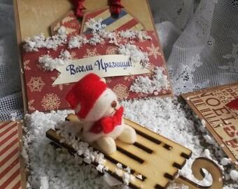 Christmas Exploding Box Card, Christmas Greeting Card, Best Christmas Gift Ever, Gift card Holder, Picture Album, Original Card