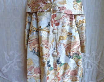 Japanese Embroidered Brocade Tapestry Coat