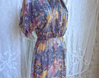 Silk Floral Print Mini Dress