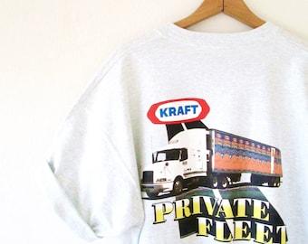 Vintage 1990s KRAFT Mac & Cheese Private Fleet Tshirt Sz XL