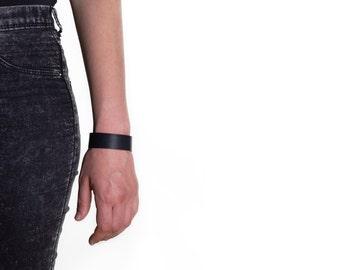 032 _ pvc bracelet unisex black micromillerighe
