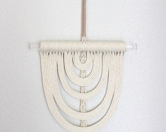 """Macrame Wall Hanging """"Energy Flow no.48"""" by HIMO ART, One of a kind Handcrafted Macrame/Rope art"""