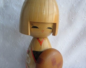 Kokeshi doll, cute, vintage