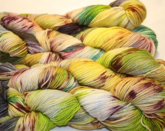Superwash Hand Dyed Sock Yarn:  Outbreak