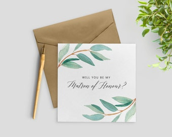 Will You Be My Matron of Honour Card, Matron of Honor Proposal, Matron of Honor Card, Bridal Party Cards, SKU: WYB001
