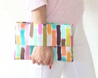 Wrist wallet, multicolors clutch bag, christmas gift, handbag, pouch bag, purse, handmade, France, summer fashion, accessory, mylmelo