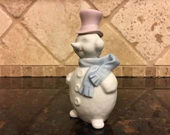 Christmas LLADRO Figurine Ornament:  Snowman #5841 ~ MINT