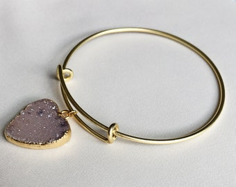Wear Your Heart on Your Sleeve Adjustable Bangle