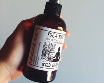 Yoga Mat Spray: Eucalyptus Leaf | Disinfectant and Aromatherapy | 8 oz Essential Oil Cleaner