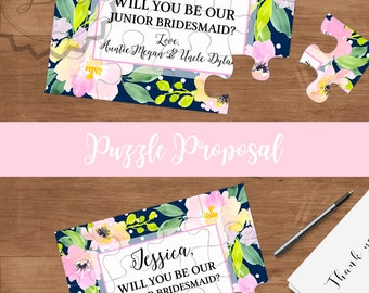 Will you be my junior bridesmaid, Will you be my Flower girl, Bridesmaid Gift Idea, Flower girl proposal, Ask Flower girl, Flower girl Card
