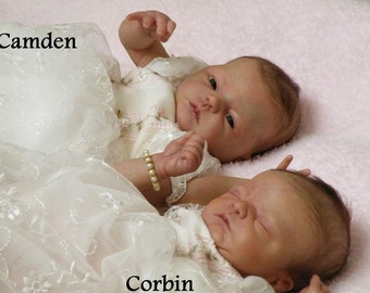 YOU GET one or BOTH bAbiEs!!!  TwInS CoRbIn & cAmDeN by Donna Lee **cUsToM bAbiEs**