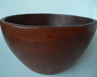 Danish Vintage wooden bowl ,handmade wood bowl ,large wood bowl,salad bowl set,fruit bowl,collectible wood ware,danish modern wood bowl