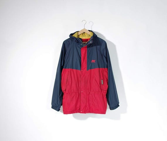 SALE - 90s Helly Hansen Workwear Hooded Windbreaker Jacket / Size L