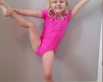 Toddler Leotard, Girls Leotard, Dance Leotard, Pink Leotard, Gymnastics Leotard, Toddler Dancewear, Girls Dancewear, Toddler Dance Outfit