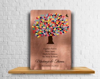 Personalized 7 Year Anniversary Gift - Metal Art Print - Copper Gift - Custom Gift for Couple - Seven Years - 7th Anniversary - Poetry Print